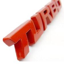 Red 3D TURBO Words Sports Car Sticker Metal Chrome Emblem Rear Trunk Badge Red