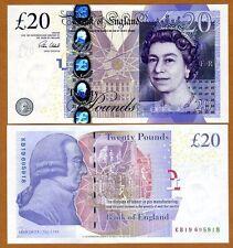 Great Britain 20 pounds, 2006 (2015), P-392c Sign. Cleland, QEII, UNC > England