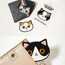 1Pc Acrylic Portable Creative Pocket Mini Mirror Multi-color Cat Random Pattern