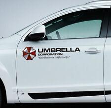 2x reflektierend sticker Aufkleber UMBRELLA CORPORATION logo redident evil 21cm