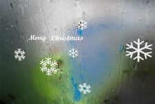 Merry Christmas Snow Flake Removable Art Vinyl Window Door Sticker Wall Decor