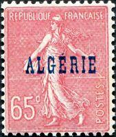"""COLONIES ALGÉRIE N° 25 NEUF** Variété """"PAPIER NID D'ABEILLE"""""""