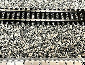 Model Railway Track Ballast Granite Gravel Grey, N OO gauge, 1-3mm - Clean & Dry