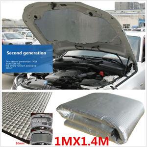 10MM 1X1.4M Car Hoods Deadener Insulation Heat Shield Mat Firewall Protection