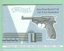 Walther Model OSP Owners Manual Reproduction