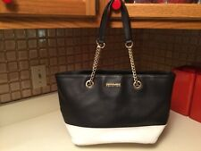 Kenneth Cole Reaction Tote Bag Black & White Purse Handbag