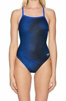 Speedo Junior Swimwear Blue Size 24 PowerFlex Flyback Hydro Amp Swimsuit $74 279