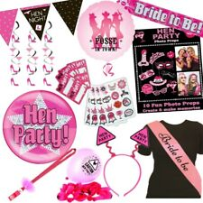Hen Night Party Bride To Be Bridal Shower Decorations, Balloons, Games, Sashes