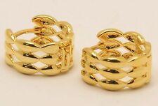 Women's 18 Carat Gold Filled Huggie small hoop Earrings Jewellery