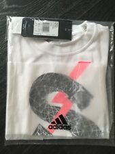Childrens kids girls Adidas SFR short sleeved t-shirt size 7/8yrs BNIP TWC01764