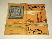 Catalogue carrelage ancien Céramique de la Lys Marcke Bij Kortrijk Lez Courtrai