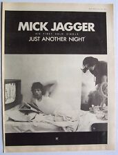 the rolling stones Mick Jagger 1985 Poster Ad Just Another Night