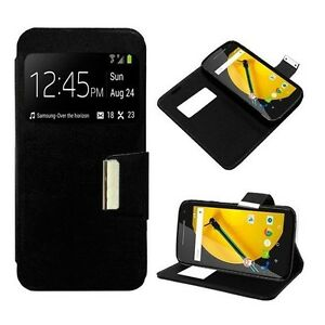 FLIP WINDOW BLACK WALLET PU LEATHER CASE COVER FOR VARIOUS PHONES FREE SHIPPING