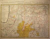 Kupferstichkarte von Zollmann Thüringen-Herzogtum Sachsen-Weimar 1747 sf