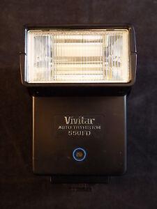 CAMERA FLASH Vivitar 550FD C/R Auto Thyristor Flash For Canon & Ricoh 35mm