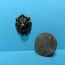 Dollhouse Miniature Antique Finish Lion Head Working Door Knocker S3077A