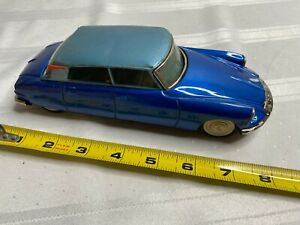 VINTAGE JAPAN BANDAI TIN TOY CITROEN DS19 FRICTION CAR ...LOOK