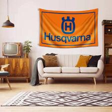 Husqvarna Tools Logo Banner Flag 3x5 FT Heavy Duty Power Tools Equipment Garage