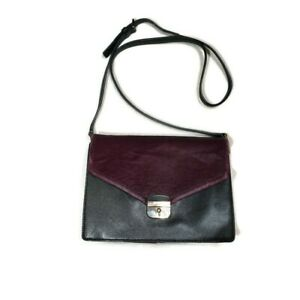 Kate Spade Sayra Hyde Place Bag In Black w Plum Calf Hair and Suede Retail $399