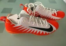 Nike Men's Size 15.5 White/Orange Alpha Menace Pro Football Cleats Low