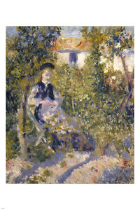 Pierre-Auguste Renoir NINI IN THE GARDEN Painting Poster 24X36 impressionist