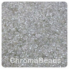 100g CLEAR TRANSPARENT glass seed beads - choose size 6/0, 8/0, 11/0 (4, 3, 2mm)