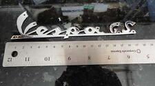 Vespa GS 160 GS160 emblem badge logo Stainless Steel w pre-drilled holes V8346
