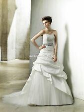 BNWT ENZOANI MODECA NOREEN WEDDING GOWN DRESS SIZE 08 IN WHITE *RETAIL $1550*