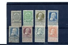BELGIUM KING LEOPOLD SCOTT 82-90 MINT SHORT SET.