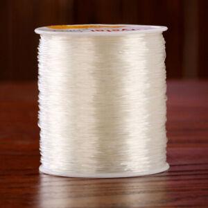 0.8mm 100 Meter Clear Stretch Elastic Beading Cord String Fish Silk Thread AU