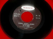 B B KING~WORRY WORRY WORRY~VG++~WHY DO EVERTHING HAPPEN TO ME ~ BLUES  45