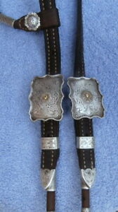 Vintage Sterling Silver Buckles Conchos Ferrules Horse Show Headstall