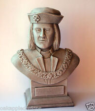 King Richard III of England Sculpture Bust Ornament Collectable Medieval Gift UK