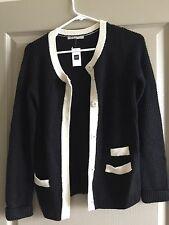 Gap Women's Black & White Bella Thermal Cardigan Sweater, Size XS, Brand New