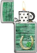 Zippo Lighter Slim Horseshoe Windproof Refill All Metal Construction Made In USA