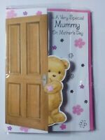 Beautiful Teddy Bear Mother's Day Card With Love To A Special Mummy (H18)