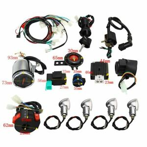 Full Electric Start Engine Wiring Harness Loom Kit For 110cc 125cc Quad Bike ATV