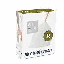 Simplehuman code/size R (10 litres) bin bag liner, CW0253 (Box of 60)