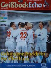 Programm 2000/01 1. FC Köln - Werder Bremen