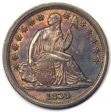 1838 Seated Liberty Dime 10C - Sharp AU Details - Rare Date!