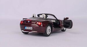 BMW Z4 roadster 2003-2006 brown model car Diecast KINSMART 1/32