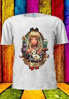 Disney Princess Alice's in Wonderland T-shirt Vest Tank Top Men Women Unisex 139
