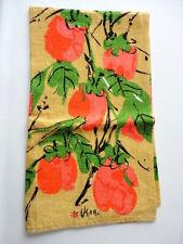 Vintage Vera Neumann Towel Fruits Linen Persimmons Vibrant  EXC+