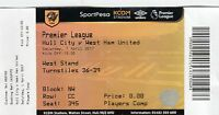 Ticket - Hull City v West Ham United 01.04.17