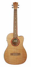 Lanikai Flame Maple Baritone Acoustic/Electric Ukulele Natural Authorized Dealer