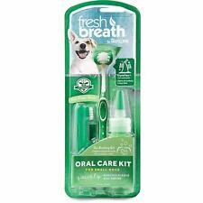 Tropiclean Fresh Breath Oral Care Kit Small Dog Canine Gel Tooth Brush