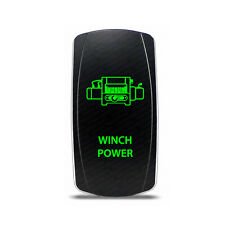 Rocker Switch Winch Power Symbol - Green LED