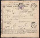 STORIA POSTALE Regno 1924 Avviso Ricevimento da Urbino a Colbordolo (FILq)