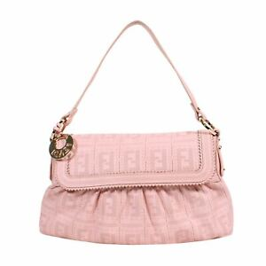 "FENDI Pink Zucca Small Chef Shoulder Bag, 8"" X 1.5"" X 13"""
