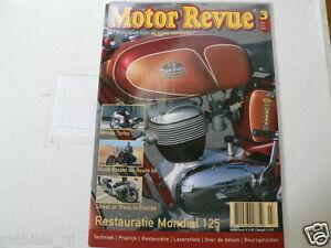MOTOR REVUE 2005-03 POSTER AJS 18,MONDIAL 125,HONDA CX500 TURBO,BMW MONO RACER,